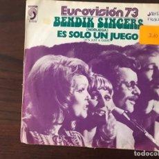 Discos de vinilo: BENDIK SINGERS ?– IT'S JUST A GAME SELLO: DISCOPHON ?– S 5239 FORMATO: VINYL, 7 , SINGLE, 45 RPM . Lote 159845974