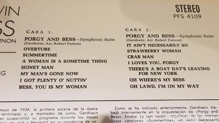 Discos de vinilo: GEORGE GERSHWIN / PORGY & BESS / LP - DECCA-1967 / CALIDAD LUJO. ****/**** - Foto 3 - 159846958
