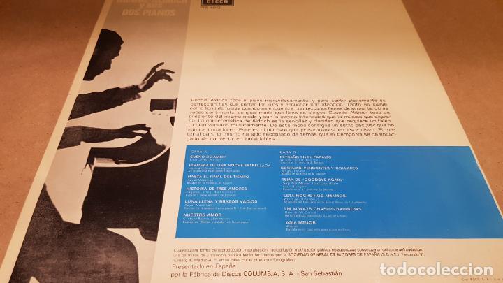 Discos de vinilo: RONNIE ALDRICH Y SUS DOS PIANOS / LP - DECCA-1970 / CALIDAD LUJO. ****/**** - Foto 2 - 159848866