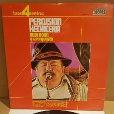 Discos de vinilo: RUDI BOHN Y SU ORQUESTA / PERCUSIÓN HECHICERA / LP - DECCA-1963 / CALIDAD LUJO. ****/****. Lote 159849486