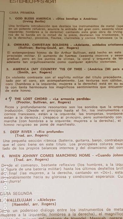Discos de vinilo: ORQUESTA Y COROS DE ERIC ROGERS / GLORY GLORY HALLELUJAH / LP - DECCA-1966 / LUJO. ****/**** - Foto 3 - 159849794