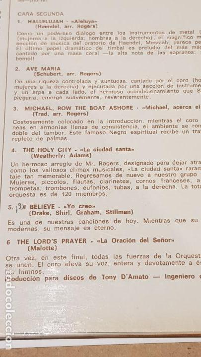 Discos de vinilo: ORQUESTA Y COROS DE ERIC ROGERS / GLORY GLORY HALLELUJAH / LP - DECCA-1966 / LUJO. ****/**** - Foto 4 - 159849794
