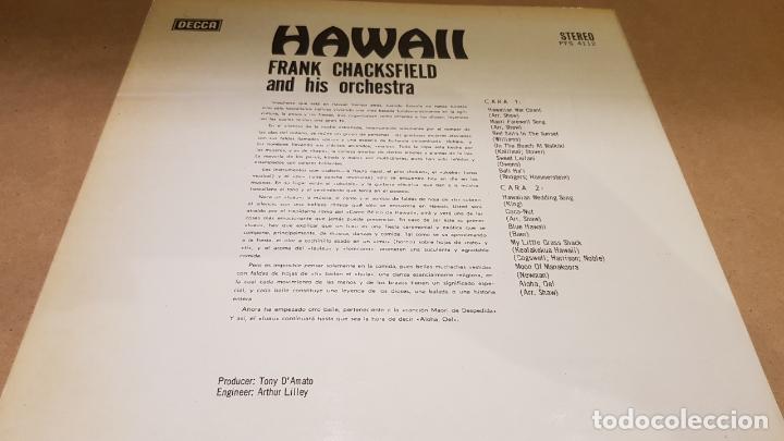Discos de vinilo: FRANK CHACKSFIELD ANT HIS ORCHESTRA / HAWAII / LP - DECCA-1967 / MBC. ***/*** - Foto 2 - 159851050