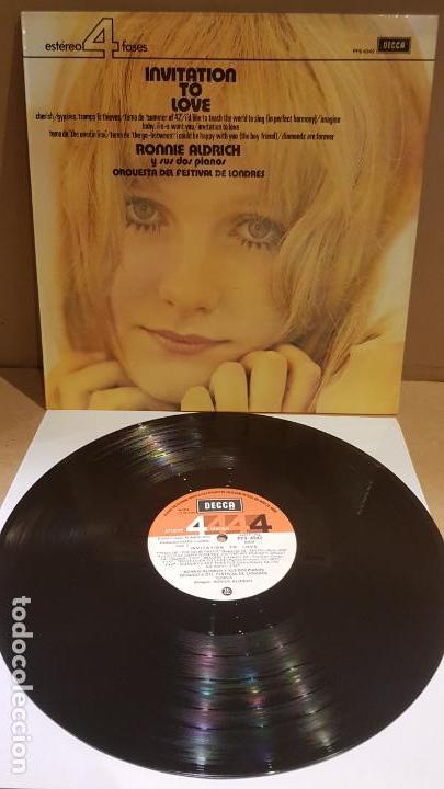 RONNIE ALDRICH Y SUS DOS PIANOS / INVITATION TO LOVE / LP - DECCA-1973 / CALIDAD LUJO. ****/**** (Música - Discos - LP Vinilo - Orquestas)