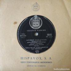 Discos de vinilo: TXISTUS VASCOS - EP DE 6 CANCIONES MUY RARO - EJEMPLAR NO COMERCIAL HISPAVOX HH 1403 EX. ESTADO. Lote 159851614