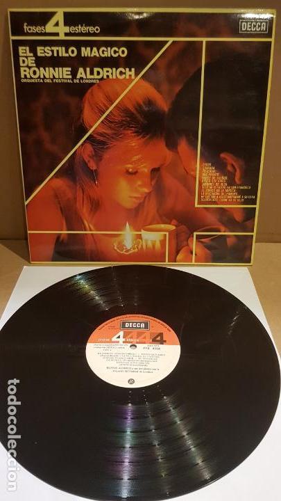 EL ESTILO MÁGICO DE RONNIE ALDRICH / LP - DECCA-1965 / CALIDAD LUJO. ****/**** (Música - Discos - LP Vinilo - Orquestas)