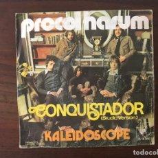 Discos de vinilo: PROCOL HARUM ?– CONQUISTADOR / KALEIDOSCOPE SELLO: CUBE RECORDS ?– 20 16 040 FORMATO: VINYL, 7 . Lote 159852986