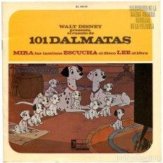 Discos de vinilo: WALT DISNEY PRESENTA EL CUENTO DE 101 DALMATAS - EP DISNEYLAND SPAIN 1967. Lote 176083113