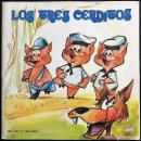 Discos de vinilo: ANTIGUO DISCO DE VINILO DE LOS TRES CERDITOS - CUENTO Y DISCO - MARIANO RUEDA -SINGLE MOVIEPLAY 1973. Lote 159867410