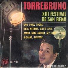 Discos de vinilo: TORREBRUNO ?– XIII FESTIVAL DE SAN REMO - EP HISPAVOX ?SPAIN 1963. Lote 159872038