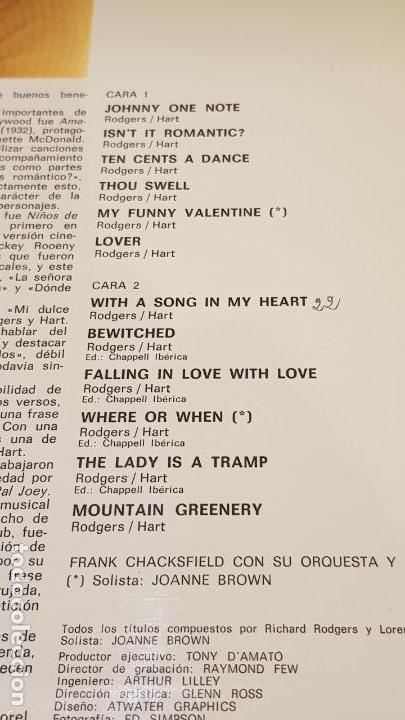 Discos de vinilo: CHACKSFIELD INTERPRETA RODGERS & HART / LP - DECCA-1977 / CALIDAD LUJO. ****/**** - Foto 3 - 159873386