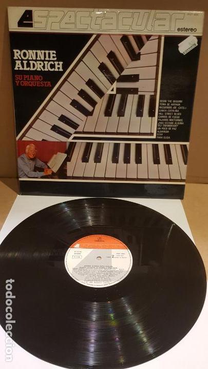 RONNIE ALDRICH / SU PIANO Y ORQUESTA / SERIE ESPECTACULAR / LP - COLUMBIA-1982 / MBC. ***/*** (Música - Discos - LP Vinilo - Orquestas)