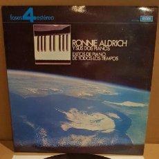 Discos de vinilo: RONNIE ALDRICH Y SUS DOS PIANOS / ÉXITOS DE TODOS LOS TIEMPOS / LP - DECCA-1967 / LUJO. ****/****. Lote 159874978