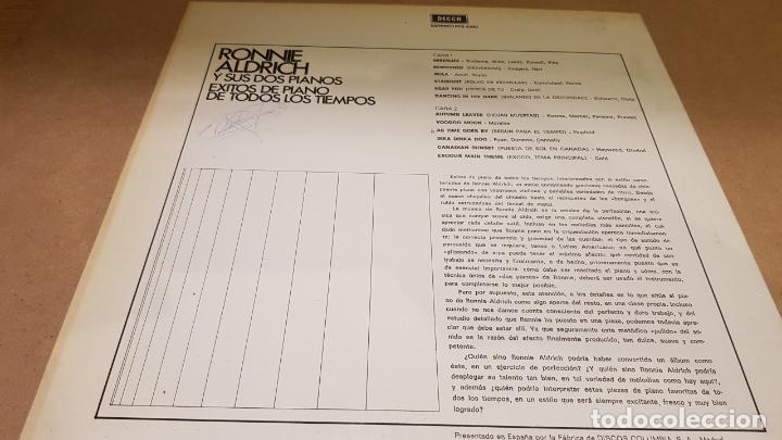 Discos de vinilo: RONNIE ALDRICH Y SUS DOS PIANOS / ÉXITOS DE TODOS LOS TIEMPOS / LP - DECCA-1967 / LUJO. ****/**** - Foto 2 - 159874978