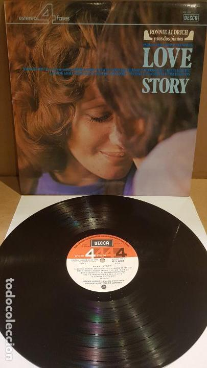 RONNIE ALDRICH Y SUS DOS PIANOS / LOVE STORY / LP - DECCA-1973 / CALIDAD LUJO.****/**** (Música - Discos - LP Vinilo - Orquestas)