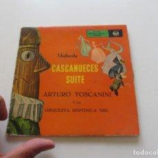 Discos de vinilo: TCHAIKOVSKY. CASCANUECES. TOSCANINI. 2 EPS. PORTADA ABIERTA CON TEXTO. 50'S. RAREZA CS125. Lote 159880930