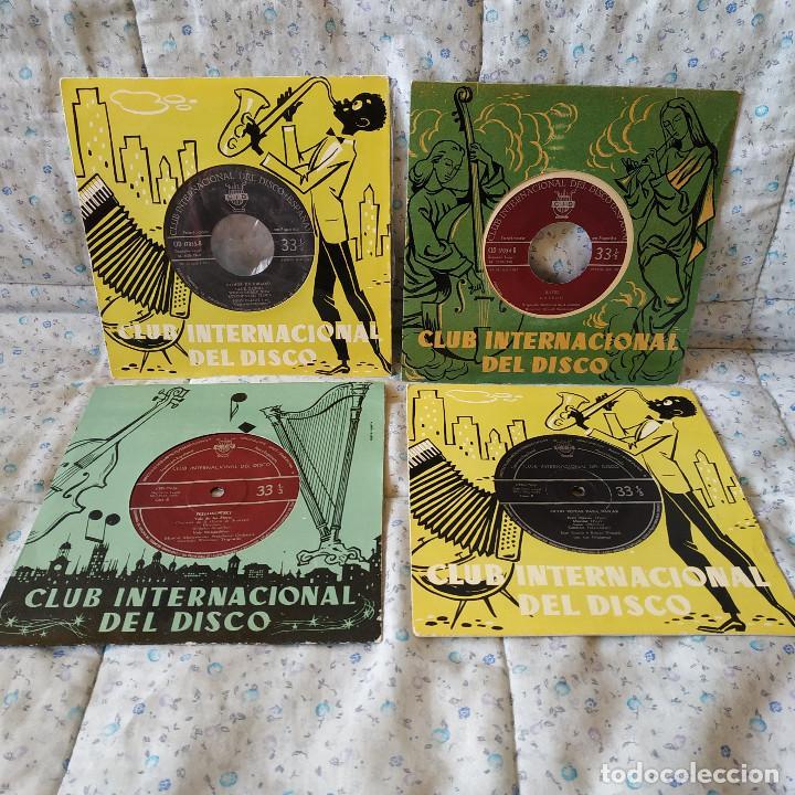 LOTE DE 4 EP'S MUY RAROS Y ANTIGUOS DEL CLUB INTERNACIONAL DEL DISCO - EXCELENTE ESTADO DE LOS 4 (Música - Discos de Vinilo - EPs - Jazz, Jazz-Rock, Blues y R&B)