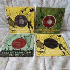Discos de vinilo: LOTE DE 4 EP'S MUY RAROS Y ANTIGUOS DEL CLUB INTERNACIONAL DEL DISCO - EXCELENTE ESTADO DE LOS 4. Lote 159885738