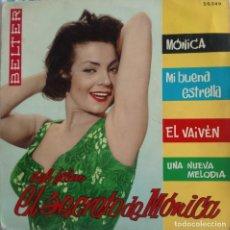 Discos de vinilo: DISCO SINGLE - DEL FILM- EL SECRETO DE MÓNICA-FOTO DE CARMEN SEVILLA. Lote 159887186