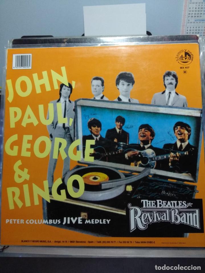 MAXI THE BEATLES REVIVAL BAND : JOHN, PAUL, GEORGE & RINGO (PETER COLUMBUS JIVE MEDLEY) (Música - Discos de Vinilo - Maxi Singles - Pop - Rock Extranjero de los 90 a la actualidad)