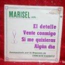Discos de vinilo: MARISEL&ERNESTO VAZQUEZ EL DETALLE/VENTE CONMIGO/SI ME QUISIERAS/ALGUN DIA EP 1973. Lote 159915538