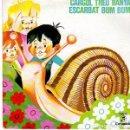 Discos de vinilo: GIA MARCEL CANCIONES INFANTILES CATALANAS-CARGOL TREU BANYA + ESCARBAT BUM BUM- SINGLE 1964. Lote 159920858