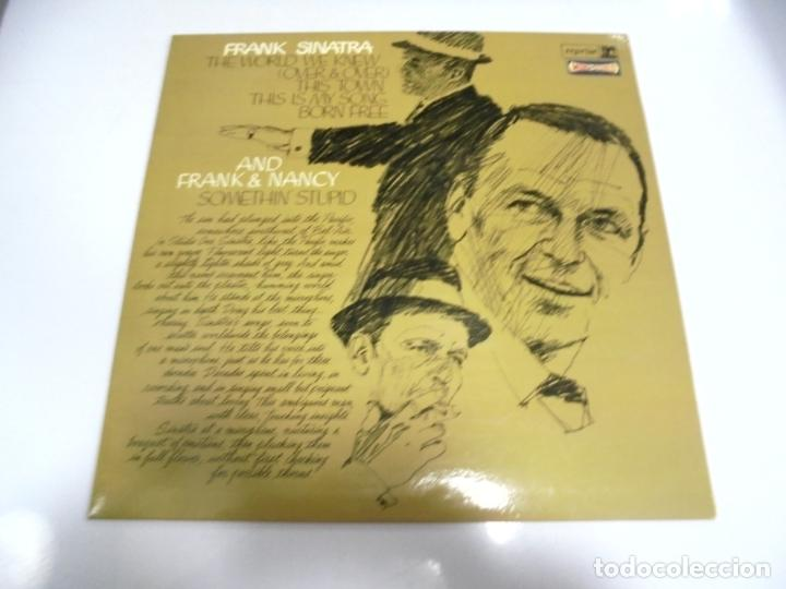 LP. FRANK SINATRA. THE WORLD WE KNEW. AND FRANK & NANCY. SOMETHIN' STUPID. DISQUES VOGUE (Música - Discos - LP Vinilo - Cantautores Extranjeros)