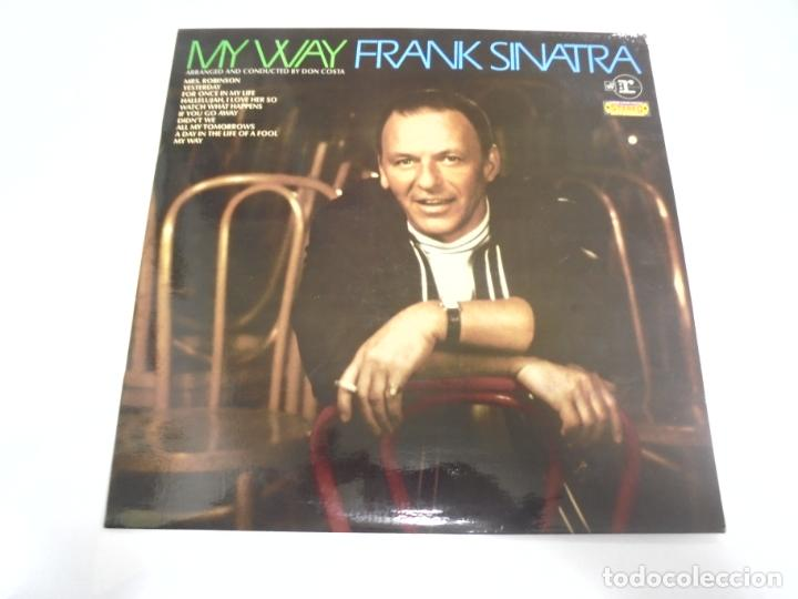 LP. FRANK SINATRA. MY WAY. ARRANGED AND CONDUCTED BY DON COSTA. DISQUES VOGUE (Música - Discos - LP Vinilo - Cantautores Extranjeros)