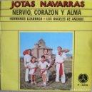 Discos de vinilo: HERMANOS LIZARRAGA - LOS ÁNGELES DE AÑORBE: NERVIO, CORAZÓN Y ALMA: CUANDO CANTA UN NAVARRICO + 3. Lote 159935646