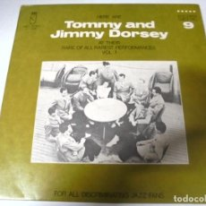 Discos de vinilo: LP. TOMMY AND JIMMY DORSEY. AT THEIR RARE OF ALL RAREST PERFORMANCES. VOL.1. KINGS OF JAZZ. Lote 159939290