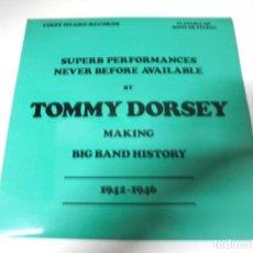 Discos de vinilo: LP. SUPERB PERFORMANCES NEVER BEFORE AVAILABLE BY TOMMY DORSEY. 1942 - 1946. CLOUT & BAKER. Lote 159940050