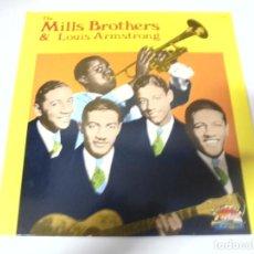 Discos de vinilo: LP. THE MILLS BROTHERS & LOUIS ARMSTRONG. 1986. SARABANDAS. Lote 159940282