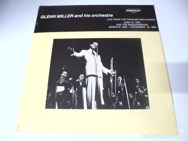 LP. GLENN MILLER AND HIS ORCHESTRA. 1938 - 1939. SOUNDCRAFT (Música - Discos - LP Vinilo - Jazz, Jazz-Rock, Blues y R&B)