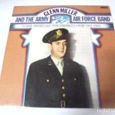 Discos de vinilo: LP. GLENN MILLER AND THE ARMY. AIR FORCE BAND. 15 RARE BROADCAST-PERFORMANCES FROM 1943 - 1944. RCA. Lote 159944974