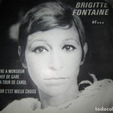 Discos de vinilo: BRIGITTE FONTAINE - ET ... SINGLE ORIGINAL FRANCES - SARAVAH RECORDS 1969 - RARO -. Lote 159956846