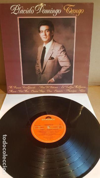 PLÁCIDO DOMINGO / TANGO / LP - POLYDOR-1981 / CALIDAD LUJO. ****/**** (Música - Discos - LP Vinilo - Solistas Españoles de los 70 a la actualidad)