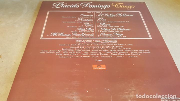 Discos de vinilo: PLÁCIDO DOMINGO / TANGO / LP - POLYDOR-1981 / CALIDAD LUJO. ****/**** - Foto 2 - 159960994