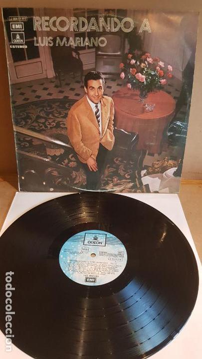 RECORDANDO A LUIS MARIANO / LP - EMI-ODEON-1972 / CALIDAD LUJO. ****/**** (Música - Discos - LP Vinilo - Solistas Españoles de los 70 a la actualidad)