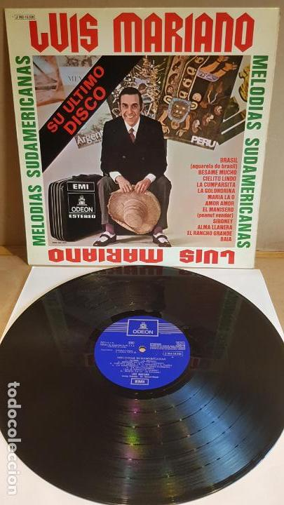 LUIS MARIANO / MELODÍAS SUDAMERICANAS / SU ÚLTIMO DISCO / LP-ODEON-1970 / LUJO. ****/**** (Música - Discos - LP Vinilo - Solistas Españoles de los 70 a la actualidad)