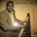 Discos de vinilo: THELONIOUS MONK - SMOKE GETS IN YOUR EYES EP - ORIGINAL INGLES - VOGUE 1956 - MONOAURAL. Lote 159972834