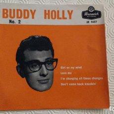 Discos de vinilo: EP DEL CANTANTE NORTEAMERICANO DE ROCK AND ROLL BUDDY HOLLY. Lote 159975958