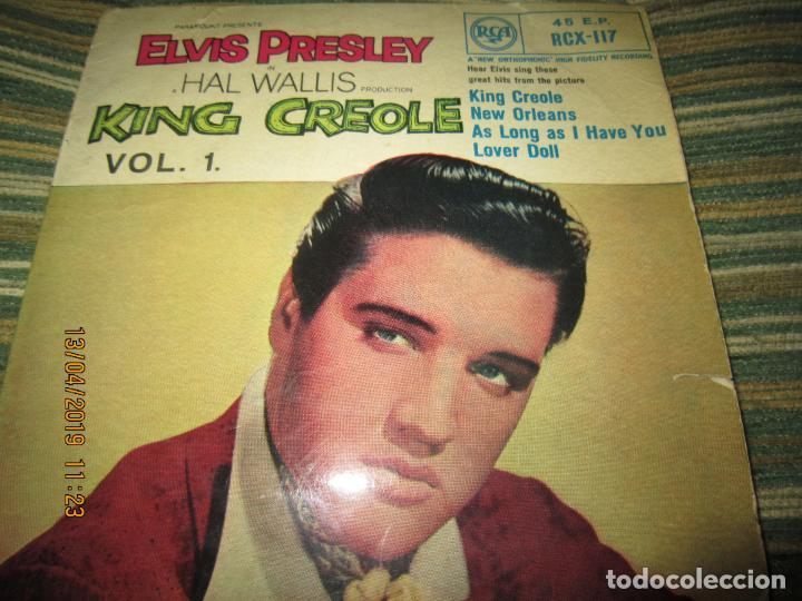 ELVIS PRESLEY - KING CREOLE VOL. 1 EP - ORIGINAL INGLES - RCA RECORDS 1958 - MONOAURAL - (Música - Discos de Vinilo - EPs - Rock & Roll)