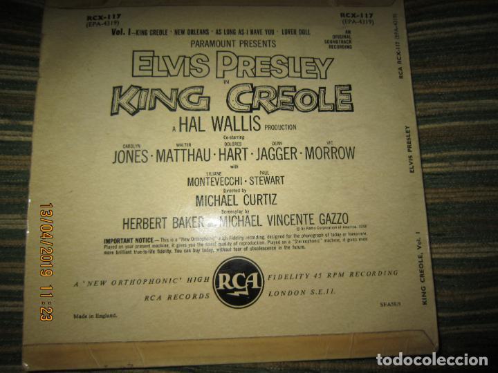 Discos de vinilo: ELVIS PRESLEY - KING CREOLE VOL. 1 EP - ORIGINAL INGLES - RCA RECORDS 1958 - MONOAURAL - - Foto 2 - 159982578