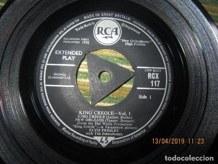 Discos de vinilo: ELVIS PRESLEY - KING CREOLE VOL. 1 EP - ORIGINAL INGLES - RCA RECORDS 1958 - MONOAURAL - - Foto 3 - 159982578