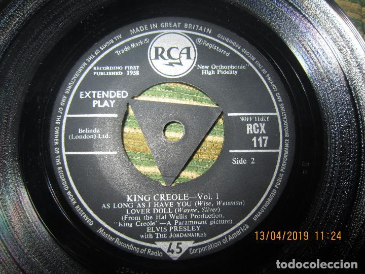 Discos de vinilo: ELVIS PRESLEY - KING CREOLE VOL. 1 EP - ORIGINAL INGLES - RCA RECORDS 1958 - MONOAURAL - - Foto 4 - 159982578