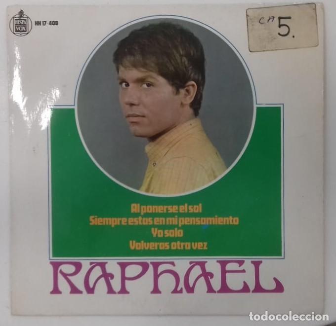 RAPHAEL - BANDA SONORA DE LA PELICULA AL PONERSE EL SOL EP ED ESPAÑOLA 1967 (Música - Discos de Vinilo - Maxi Singles - Grupos Españoles 50 y 60)
