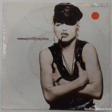 Discos de vinilo: MADONNA - JUSTIFY MY LOVE SG ED ALEMANA 1990. Lote 159991342