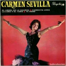 Discos de vinilo: CARMEN SEVILLA - EL ANGEL DE LA GUARDA - EP SPAIN 1966 - PERGOLA 10063B. Lote 159996358