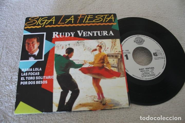 RUDY VENTURA SIGA LA FIESTA EP 1990 PROMOCIONAL (Música - Discos de Vinilo - Maxi Singles - Solistas Españoles de los 70 a la actualidad)