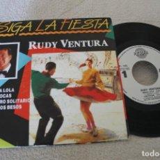 Discos de vinilo: RUDY VENTURA SIGA LA FIESTA EP 1990 PROMOCIONAL. Lote 160015290